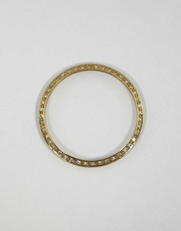 American Jewelry 14KY 3/4CTW BEZEL FOR GENTS ROLEX WITH BEAD SET ROUND BRILLIANT DIAMONDS