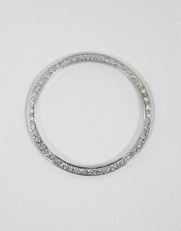American Jewelry 18KW 1CTW BEZEL FOR GENTS ROLEX WITH BEAD SET ROUND BRILLIANT DIAMONDS