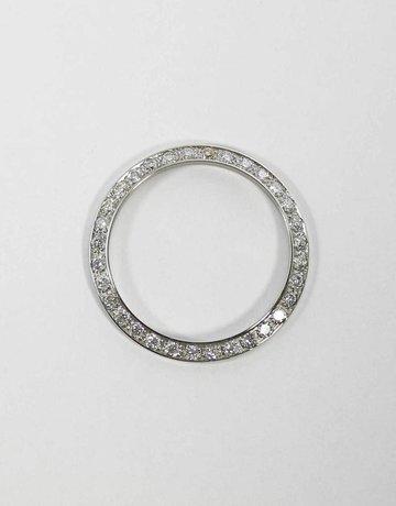 American Jewelry STAINLESS 3/4CTW BEZEL FOR LADIES ROLEX WITH BEAD SET ROUND BRILLIANT DIAMONDS
