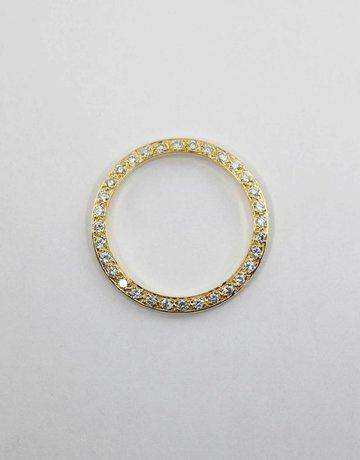 American Jewelry 14KY 3/4CTW BEZEL FOR LADIES ROLEX WITH BEAD SET ROUND BRILLIANT DIAMONDS