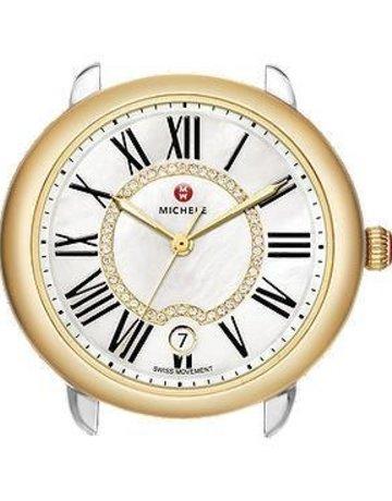 Michele Michele Serein 16 Two-Tone, Diamond Dial Watch Head