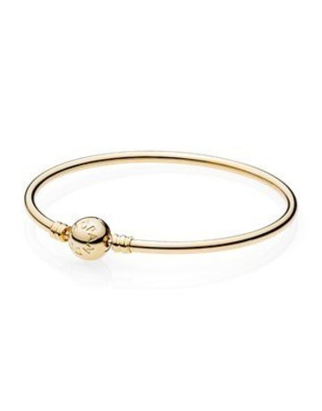 Pandora PANDORA 14K Gold Bangle, Signature Clasp - 7.5""