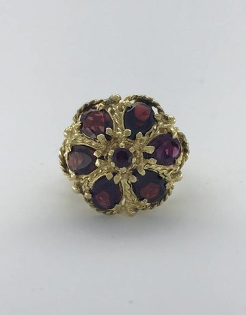 American Jewelry 14k Yellow Gold 4.80ctw Garnet Vintage Estate Ring (Size 6)