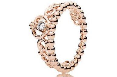 PANDORA Rose Ring, My Princess Tiara, Clear CZ - Size 48
