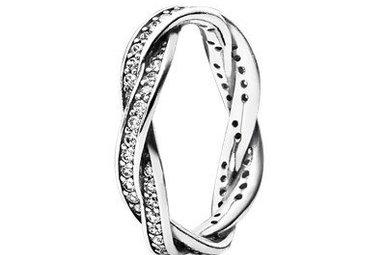 PANDORA Ring, Twist of Fate, Clear CZ - Size 52