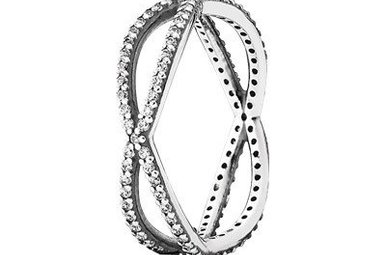 PANDORA Ring, Crossing Paths, Clear CZ - Size 52