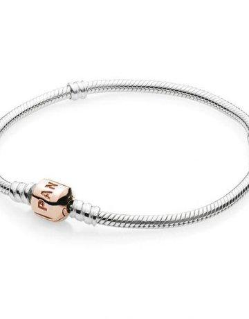 Pandora PANDORA Bracelet Sterling Silver w/ Rose Clasp - 16 cm / 6.3 in