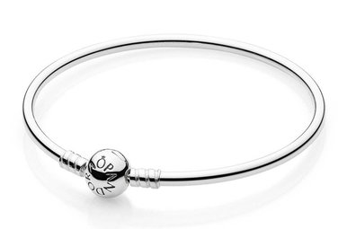 PANDORA Bangle Sterling Silver - 19 cm / 7.5 in