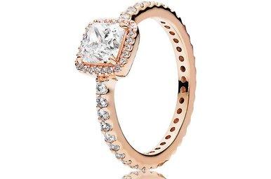 PANDORA Rose Ring, Timeless Elegance, Clear CZ - Size 56