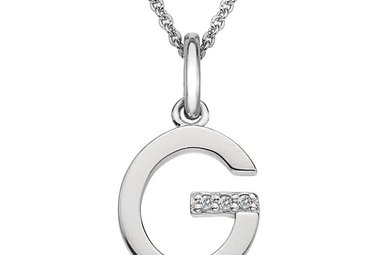 Sterling Silver Hot Diamonds G Initial Pendant