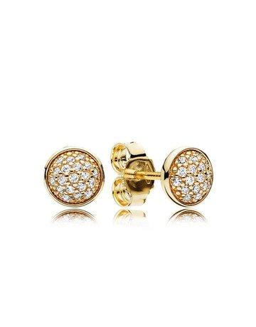 Pandora PANDORA Stud Earrings, 14k Dazzling Droplets, Clear CZ
