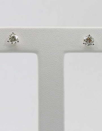 14KW 3/4CTW ROUND BRILLIANT DIAMOND MARTINI SET STUD EARRINGS