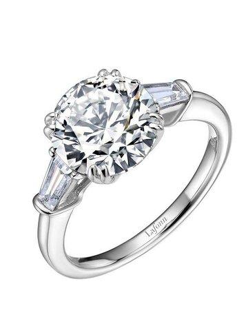 Lafonn Lafonn Engagement Ring, Simulated Diamonds 4.51ctw, Sterling Silver
