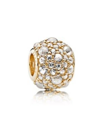 Pandora Retired - PANDORA Charm, 14k Shimmering Droplets, Clear CZ
