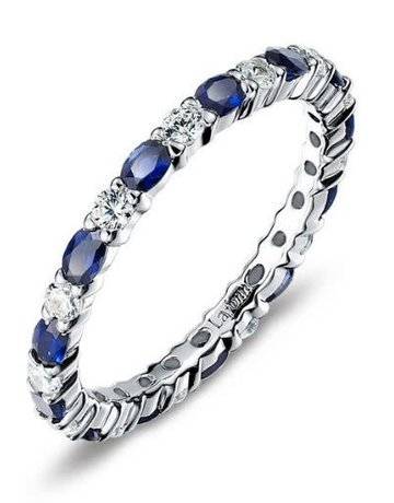 Lafonn Lafonn 2.34cttw 26 Stone Sapphire Stackable Band Ring Size 6