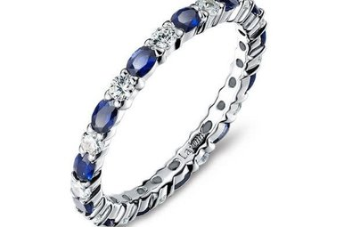 Lafonn 2.34cttw 26 Stone Sapphire Stackable Band Ring Size 6