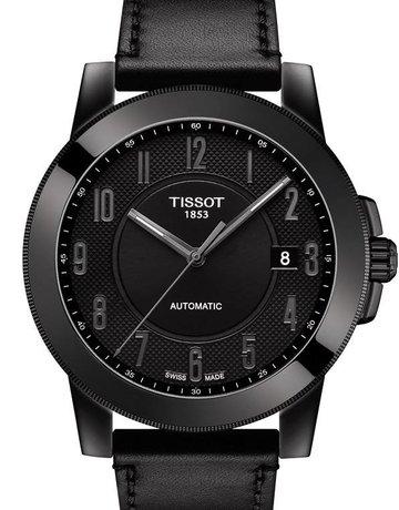 Tissot Tissot T-Sport Swissmatic Gents Watch with Black Dial & Leather Strap