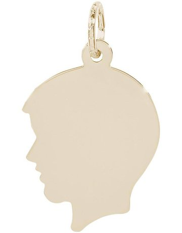 14k Yellow Gold Boy's Silhouette Charm