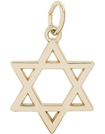 14ky Star of David Charm