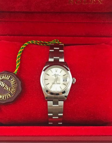 American Jewelry Rolex Stainless Date Just Silver Dial 28mm Ladies Watch (Pre-Owned)