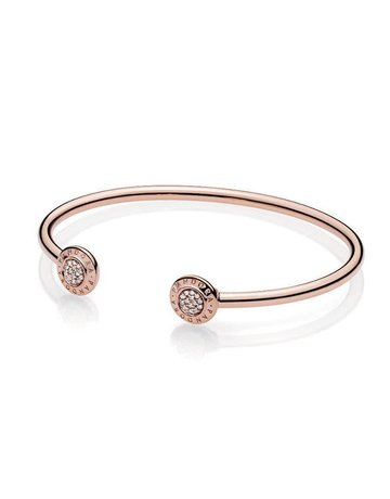 Pandora PANDORA Rose Signature Bangle, Clear CZ - 17 cm / 6.7 in