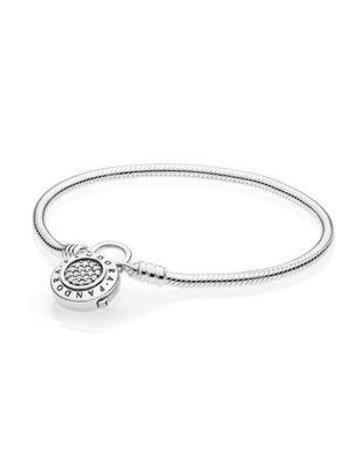 Pandora PANDORA Bracelet, Signature Padlock Clasp, Clear CZ - 18 cm / 7.1 in
