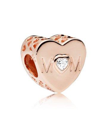 Pandora PANDORA Rose Charm, Mother Heart, Clear CZ