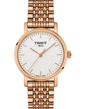 Tissot Tissot T-Classic Everytime Small Ladies Rose Tone Watch with White Dial