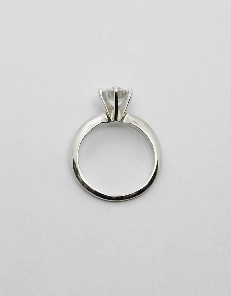 14kw 1.11ct Clarity Enhanced I/SI1 Round Brillaint Diamond ...