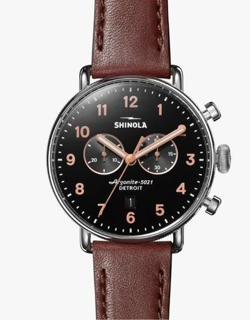 Shinola Shinola Canfield Chrono Watch 43mm Leather Strap