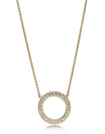 Pandora PANDORA Shine Necklace, Hearts of PANDORA, Clear CZ - 45 cm / 17.7 in