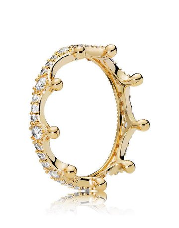 Pandora PANDORA Shine Ring, Enchanted Crown, Clear CZ - Size 50