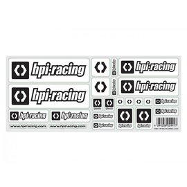 HPI HPI112887  White Racing Stickers, w/ HPI Logo