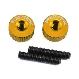 Exotek Racing EXO1191GD Twisted Nuts for M3 Thread, Gold
