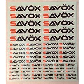 Savox SAVSTICKER Savox Logo Sticker Sheet 190 x 230 mm