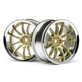 HPI HPI3298  Work XSA 02C Wheel, 26mm-6mm OffSet, Chrome/Gold
