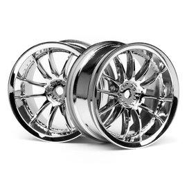 HPI HPI3280  Work XSA 02C Wheel, 26mm, Chrome, 3mm Offset (2)