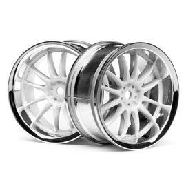HPI HPI3283  Work XSA 02C Wheel, 26mm-3mm OffSet, Chrome/White