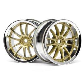 HPI HPI3297  Work XSA 02C Wheel, 26mm-3mm Offset, Chrome/Gold