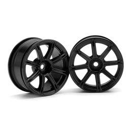 HPI HPI3306  Work Emotion XC8 Wheel, 26mm, Black, 3mm Offset