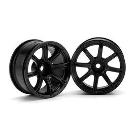 HPI HPI3307  Work Emotion XC8 Wheel, 26mm-6mm OffSet, Black