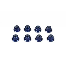 Tuning Haus TUH1062-F  Dark Blue Aluminum 3mm Flanged Locknuts (8)