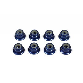 Tuning Haus TUH1074  Dark Blue Alunium 4mm Flanged Locknuts (8)