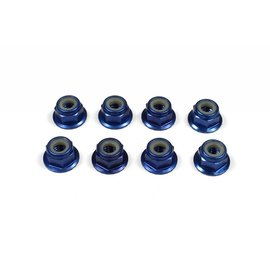 Tuning Haus TUH1080  Dark Blue Aluminum 4mm Flanged Knurled Serrated Wheel Nut (8)