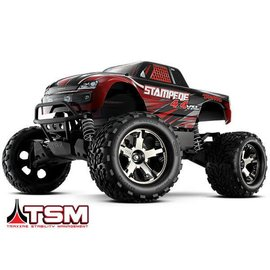 Traxxas TRA67086-4  Red Stampede 4WD VXL Monster Truck RTR Without Battery & Charger