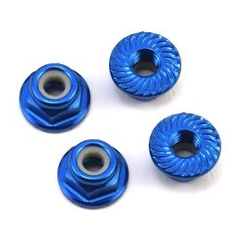 175RC 175-11040 Aluminum 4mm Serrated Locknuts (Blue)