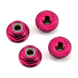 175RC 175-11048  Pink Aluminum 4mm Serrated Wheel Nuts (4)