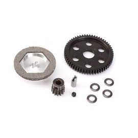 Robinson Racing RRP5058  Vaterra Halix 32p Gen3 Unit Black Steel 58T Spurr & XHard 13T Pinion w/ Reducer