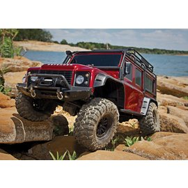 Traxxas TRA82056-4 RED TRX-4 1/10 Crawler Defender Land Rover
