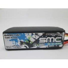 SMC SMC54135-6S1PT  True Spec Premium 22.2V 5400mAh 135Amps/90C with G10 plates Lipo w/Traxxas Plug